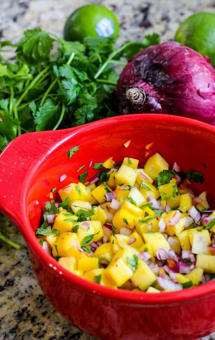 Easy Mango Habanero Summer Salsa
