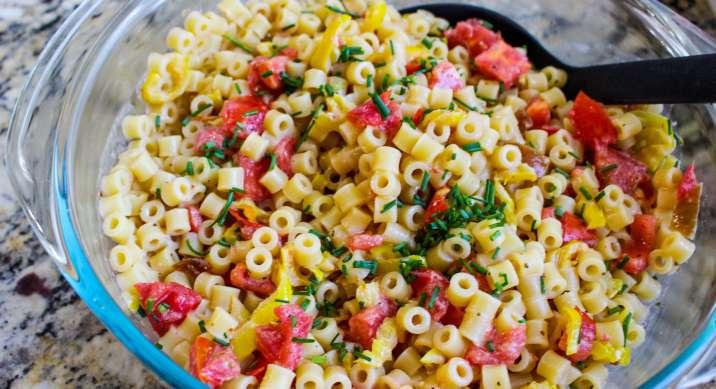 Tangy Honey Chipotle Pasta Salad