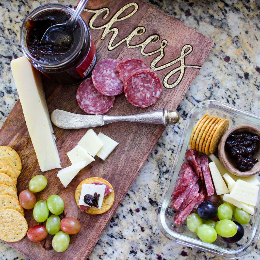 Guilty Pleasure Cheese Board Lunch Meal Prep
