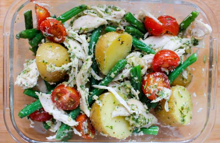 pesto chicken potato salad 9.8.17