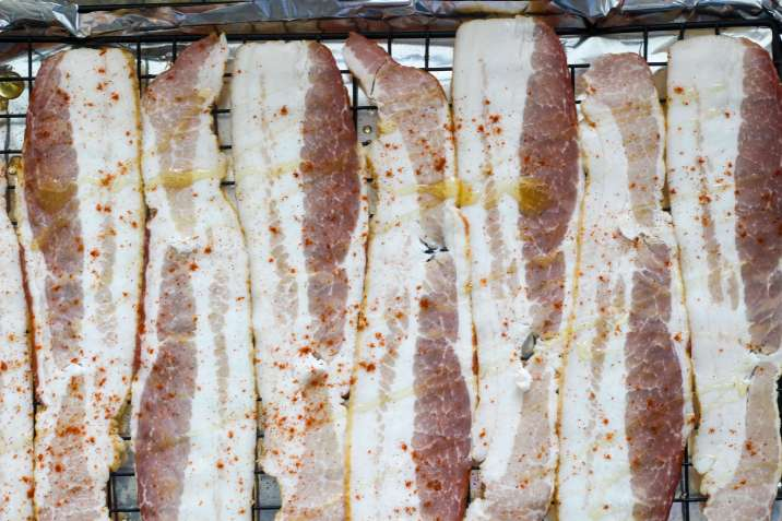 Sweet and Spicy Oven Bacon