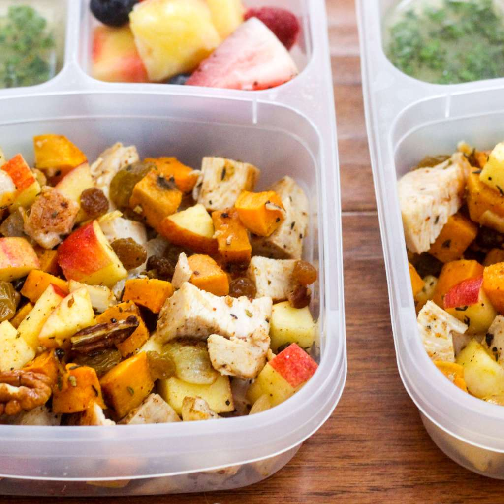 Paleo Meal Prep: Chicken, Sweet Potato, and Apple Bowls