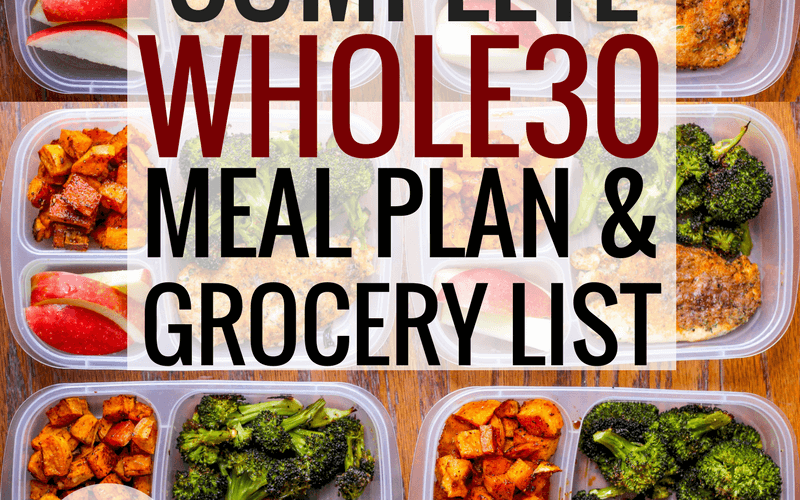 The Complete Whole30 Meal Plan & Grocery List: Week 1
