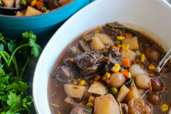 Weeknight Beef Stew with Horseradish