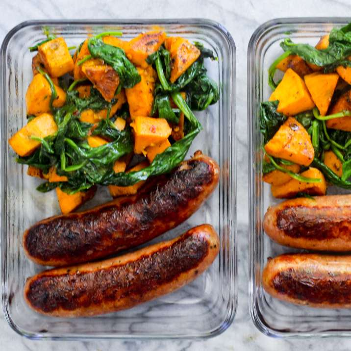 Meal Prep Sausage and Veggie Breakfast