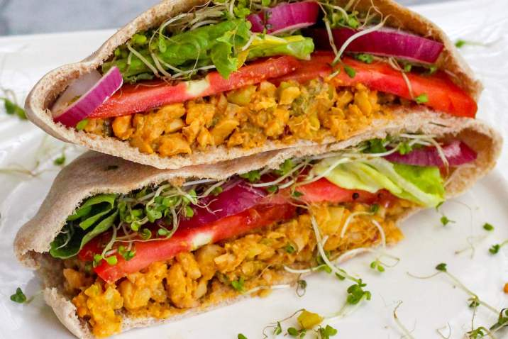 Vegan Chickpea Salad Pitas
