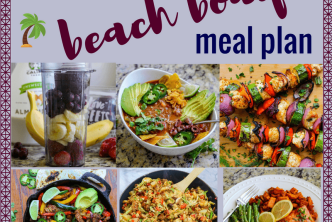 1,400 Calorie Beach Body Meal Plan & Grocery List