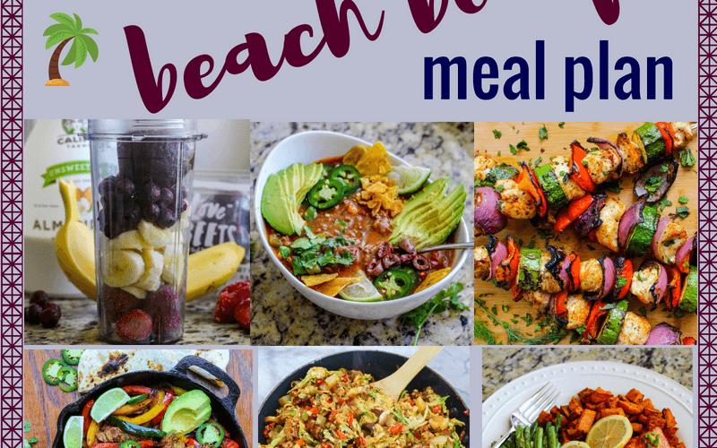 1,400 Calorie Beach Body Meal Plan & Grocery List