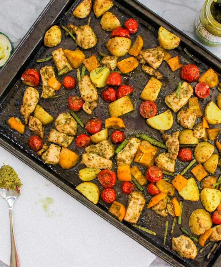 Sheet Pan Pesto Chicken and Veggies