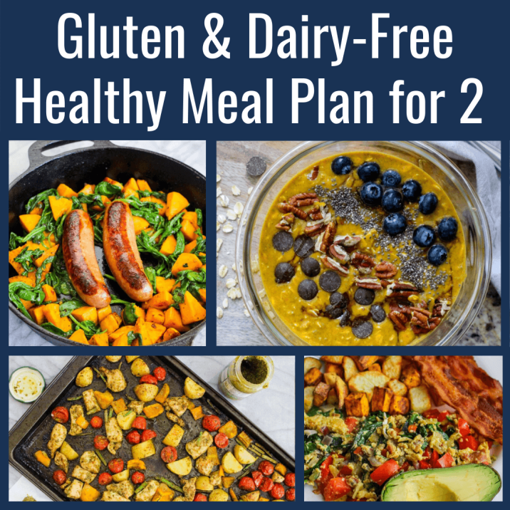 Gluten-free and dairy-free healthy meal plan for two
