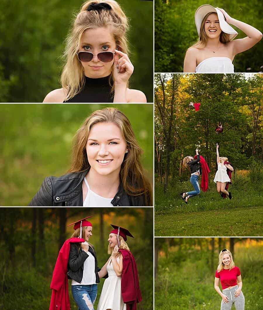 Behind the scenes video of a family and senior session at PIke Lake in Wisconsin