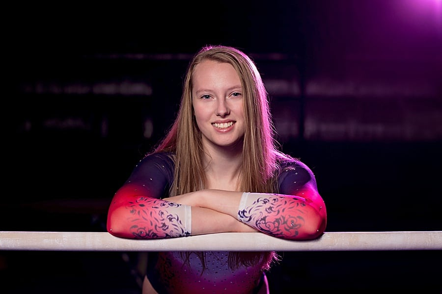 Salto Gymnastics Senior Pictures of Brookfield Academy Senior