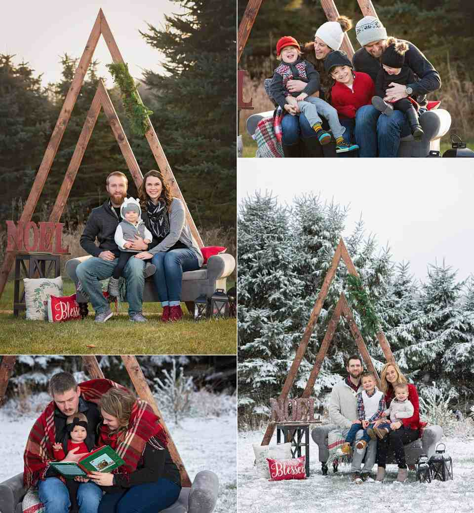 Milwaukee Christmas Mini-Sessions Collage of Photos