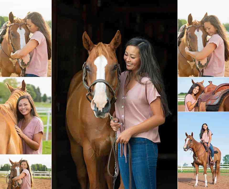 Senior Pictures at Cornerstone Riding Stables in Green Bay, WI