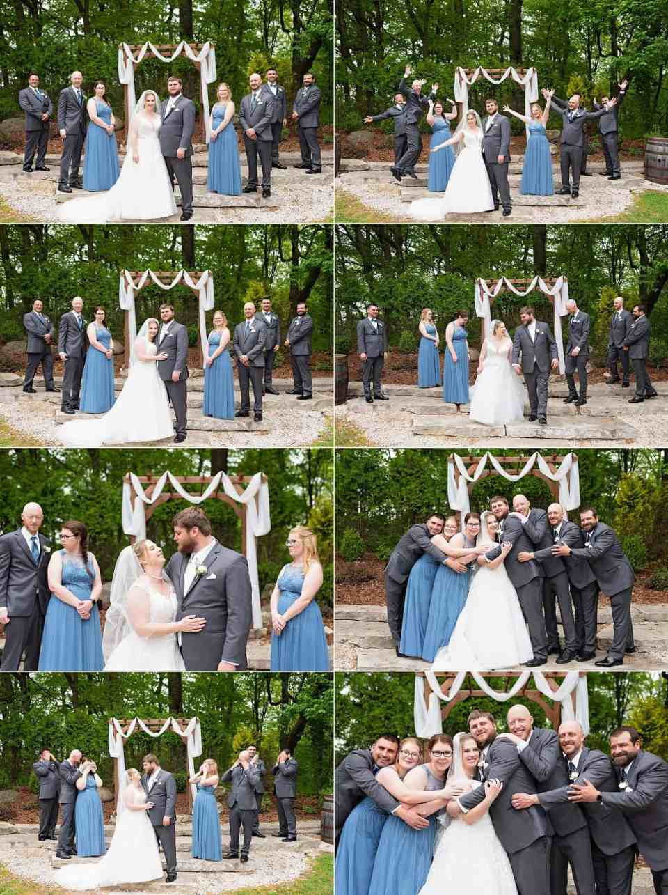 Bridal Party Portraits at Terrace 167 in Richfield, WI
