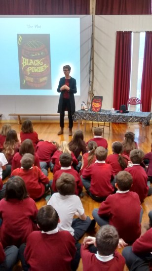 Me in action at Whitchurch C of E Primary