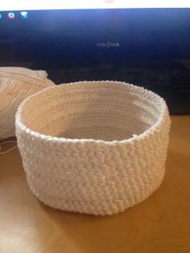 Crocheted basket