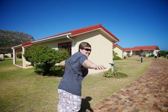 Jody battling the famous Fish Hoek wind  (c) Allyson Scott