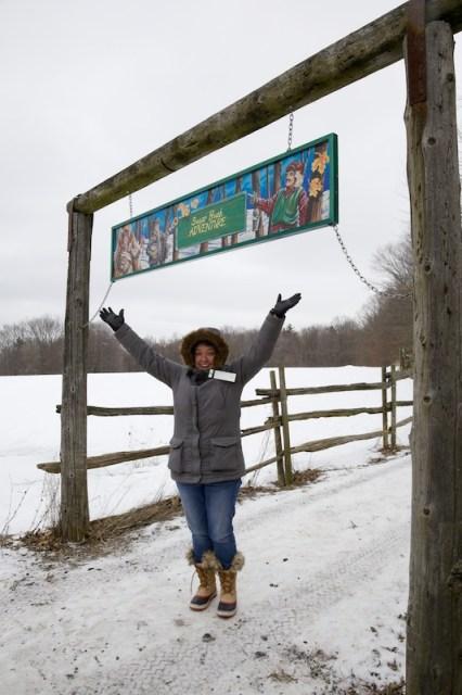 Jody at trail entrance