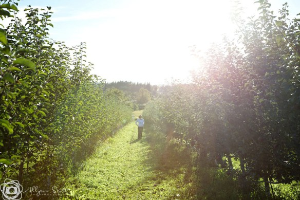 Mom in the Organics orchard