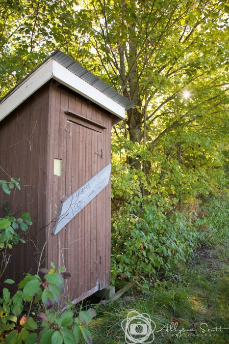 Outhouse at orchard