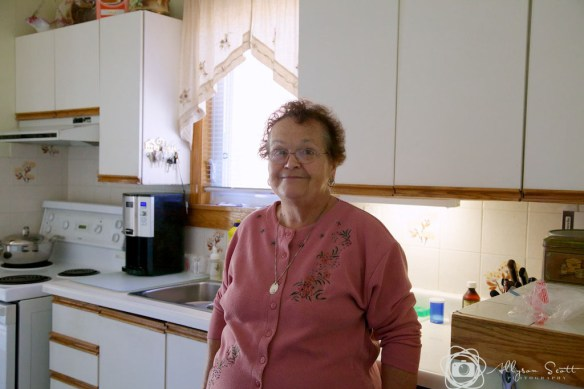 Trudy in the kitchen