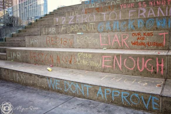 Toronto City Hall graffiti