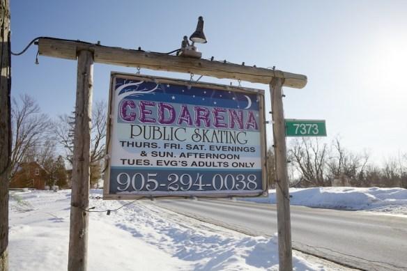 Cedarena sign in Markham