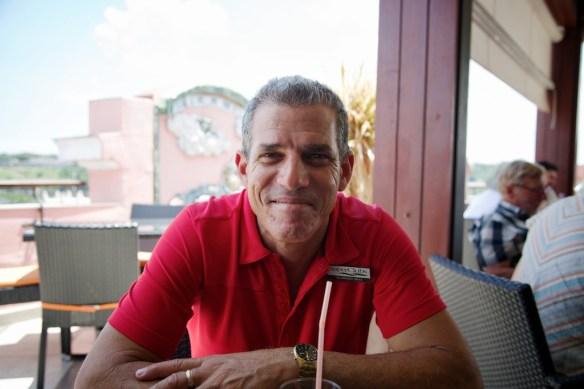 Tour guide Humberto Mesa at Hotel Ambos Mundos