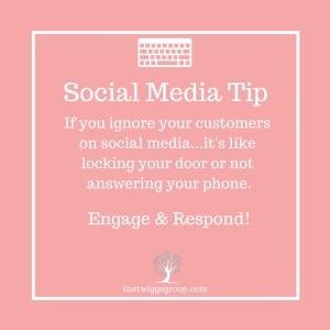 social media tip, engage