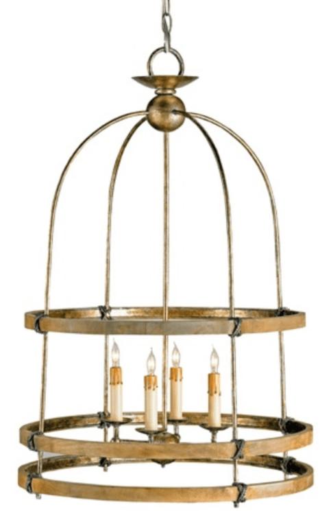 Birdcage Currey & Company chandelier