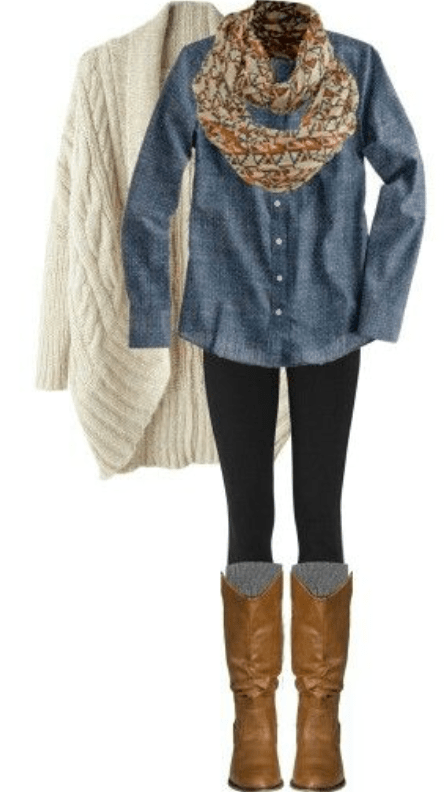 Warm stylish fall wardrobe