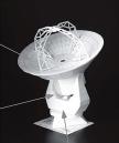 Papercraft imprimible y recortable de la Antena ALMA 12-m. Manualidades a Raudales.