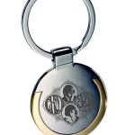 The crisp detail in the restored artwork yielded a striking result on the etched metal key fobs.