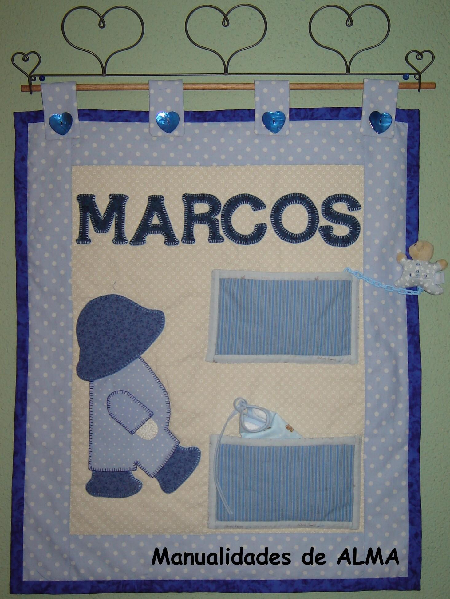 Mural para ni o en patchwork marcos manualidades de alma - Marcos fotos manualidades ...