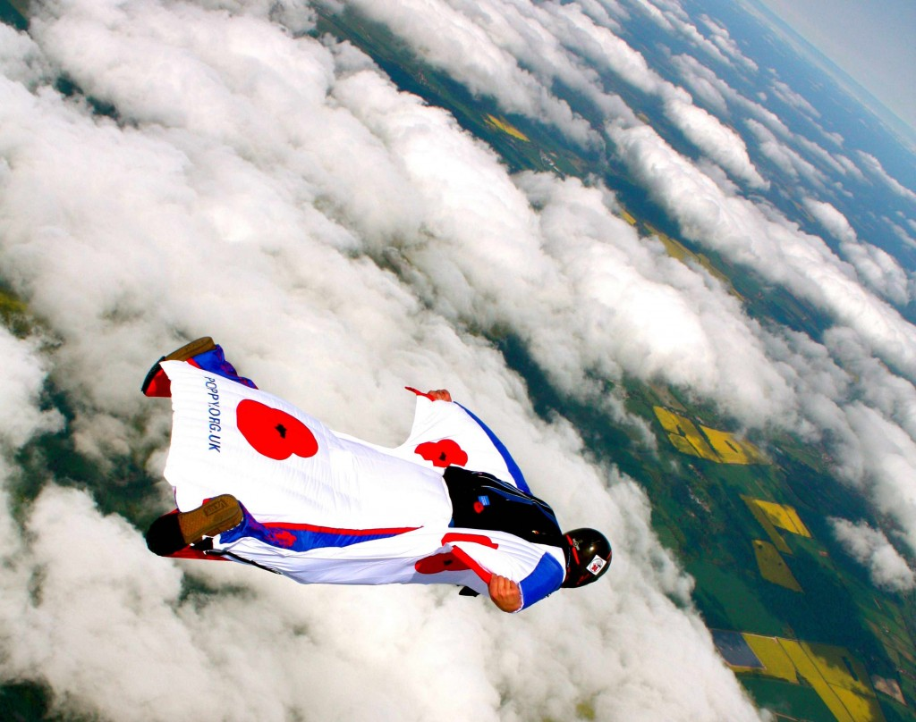 Cruising along in a Tonysuits Jedei wingsuit. Photo by Spike Harper.