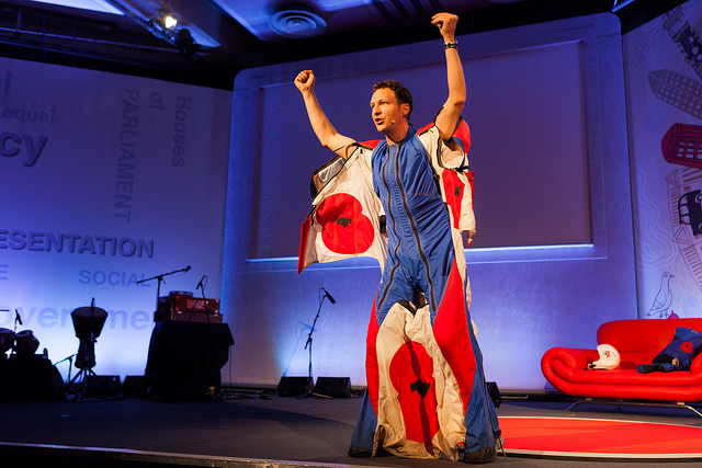 Getting passionate about the message at TEDx Houses of Parliament. Photo by Paul Clarke.
