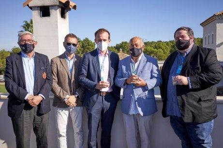 Gonzaga Escauriaza , Xavi Pascual, Miguel Pastor, Ángel Gallardo, embajador del European Challenge Tour y Joan Gaspar