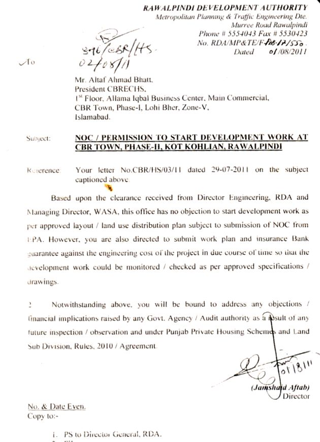 Noc phase 2 , CBR ECHS , Rawalpindi