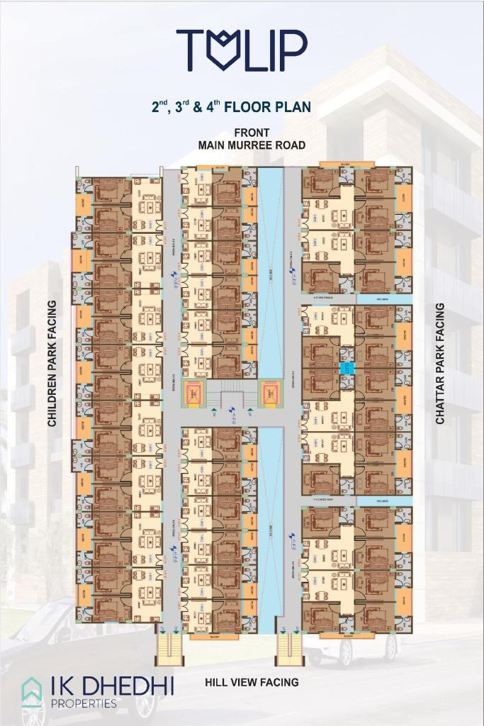 Tulip Apartments 2nd,3rd & 4th Plan