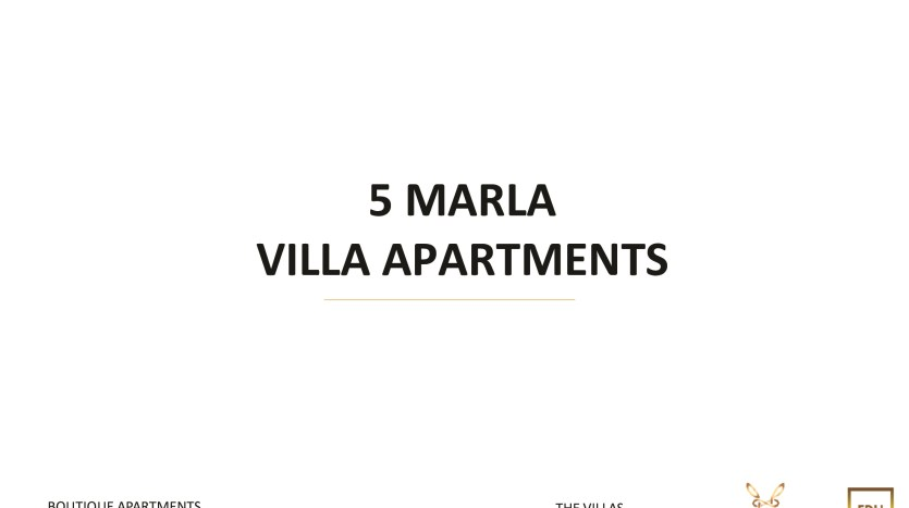 5 Marla Villa Apartment