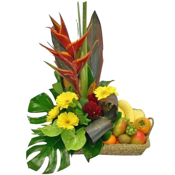 Canasta frutal tropical