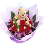 Bouquet sweet bear. Floristería ALMA FLORAL Bogotá
