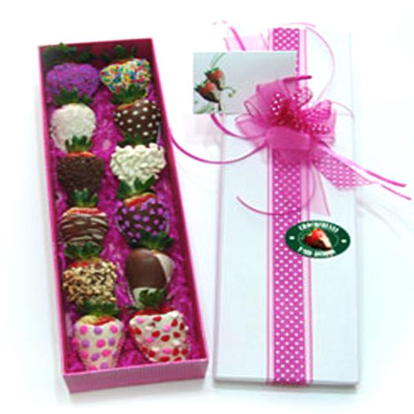 Fresas con Chocolate x 12 und