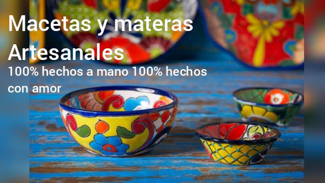 Materas y macetas artesnales. Floristería ALMA FLORAL Bogotá