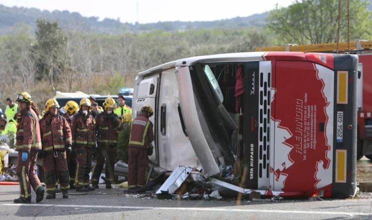 القنصلية المغربية بإسبانيا: المغاربة الذين أصيبوا في حادثة سير غادروا المستشفى