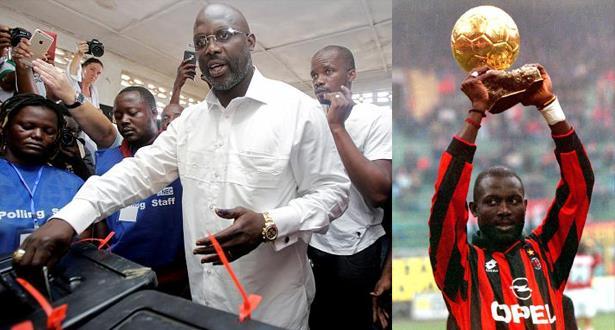 النجم جورج ويا يتصدر سباق انتخابات الرئاسة في ليبيريا