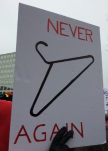 Poster, Never Again, Coat Hanger, cropped