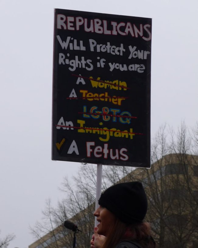 Poster, Republicans Will Protect Your Rights if You Are a Fetus, Photo by LS, cropped
