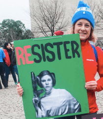 Poster, Resister, Alanna Vaglanos, Huff Post, cropped